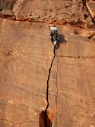 Rock Climbing Photo: This is the 5.9/5.10 option to the first anchor. S...