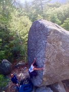 Rock Climbing Photo: Hidden BP in the forest!!