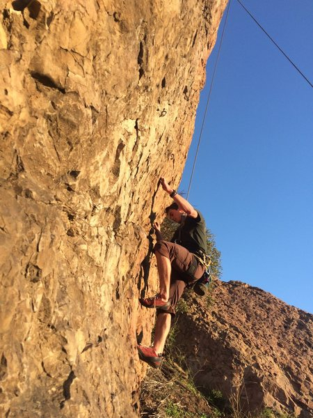 Rock Climbing Photo: Josh on Tr