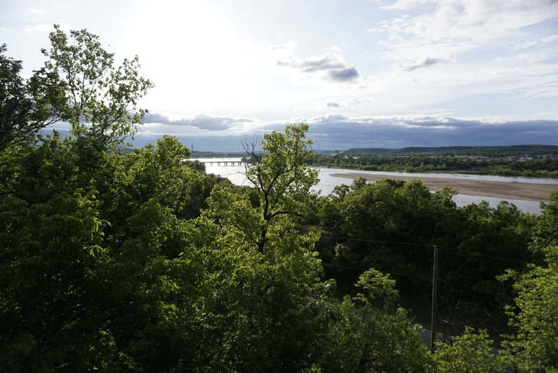 Rock Climbing Photo: View of Sand Springs from the bookend