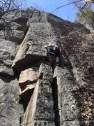 Rock Climbing Photo: Rolls Royce, stepping onto face