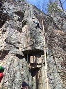 Rock Climbing Photo: Climber on Rolls Royce, Tiguidou Pack Sack is corn...