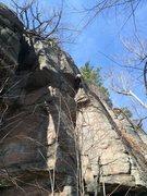 Rock Climbing Photo: going around 2nd roof on Tiguidou