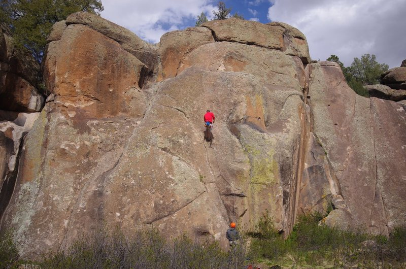 Rock Climbing Photo: 5.10a left of Jack and Diane.
