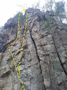 Rock Climbing Photo: This is up in the Seneca Rocks area, I'm not sure ...