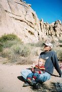 Rock Climbing Photo: Todd Gordon and a very young Beck Gordon, Echo Cov...
