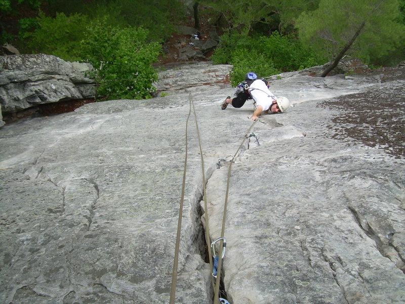 Rock Climbing Photo: Kelby Burnham on Lichen or Leave It