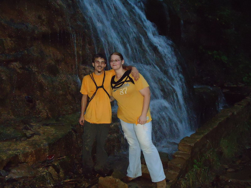 This is me and my girl at at New River on one of the trails. I free climbed up the waterfall just for fun.