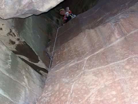 Rock Climbing Photo: Working my way up slam dance