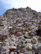 Rock Climbing Photo: The 4th class cobble pitch on Crestone Peak to Nee...