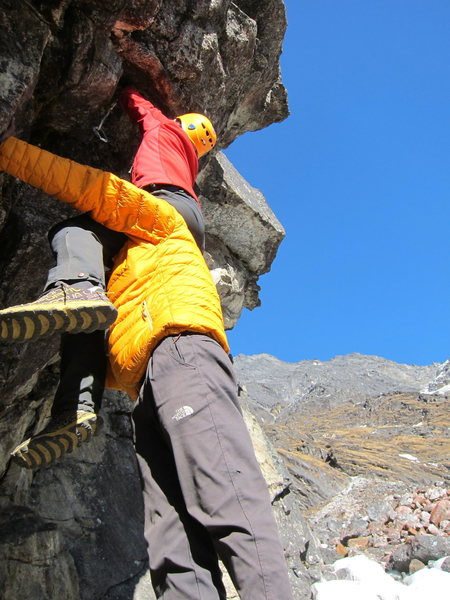 Rock Climbing Photo: Bootying a cam with Pemba
