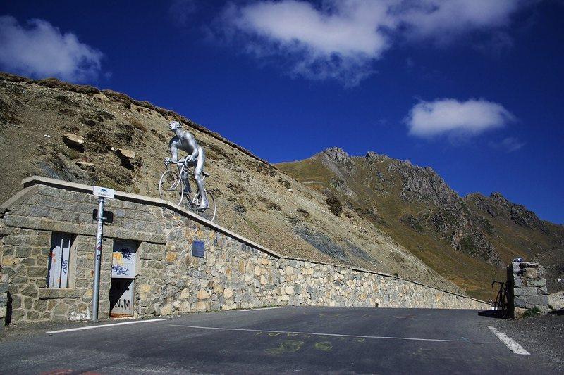 Famed Pyrenees road bike climb Col du Tourmalet.