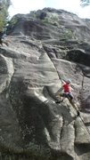 Rock Climbing Photo: At the crux of Vad Ar Otid?