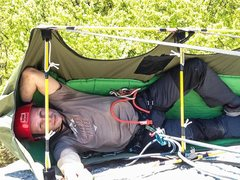 Rock Climbing Photo: Inside the Hammock. No shoulder squeezing and beli...