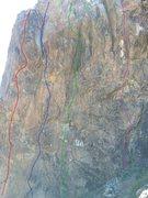 Rock Climbing Photo: Blue route