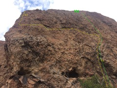"Rock Climbing Photo: ""Get The Butter"" traverse in yellow and ..."