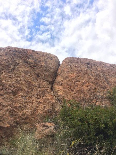 Rock Climbing Photo: Big easy crack.