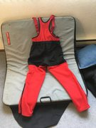 Rock Climbing Photo: Marmot Fleece bibs. poop flap zips all the way und...