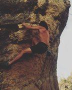 Rock Climbing Photo: getting buck on a short but burly sport route in T...