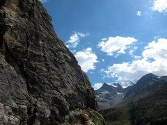 Rock Climbing Photo: The upper right side of the Ei sector at Lagalb
