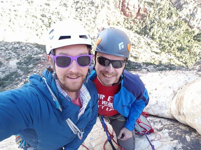 Rock Climbing Photo: Top of 3rd Pitch of Johnny Vegas