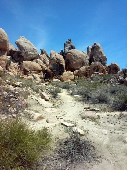 Rock Climbing Photo: The last bit of trail to The Cemetery, Horsemen's ...