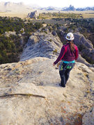Rock Climbing Photo: Angela headed down from the summit after taking in...