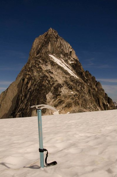 corsa behind is Bugaboo spire cain route from other side of Col