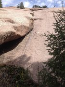 Rock Climbing Photo: A rope hanging on the climb.  Good view of the sta...