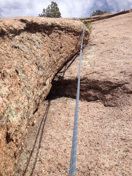 Rock Climbing Photo: The mininscule hand crack section.
