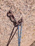 Rock Climbing Photo: The new anchor bolts.