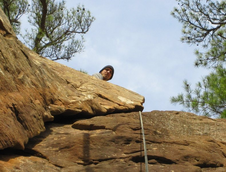 Rock Climbing Photo: Me at the top of First Time Up in Horseshoe Canyon...