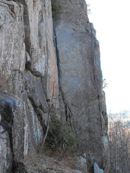 Rock Climbing Photo: Easy to identify corner dead center of pic ...base...
