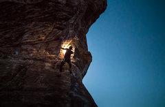 Night climber in Red Rocks