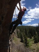 Rock Climbing Photo: Shot of the moves on the upper roof!