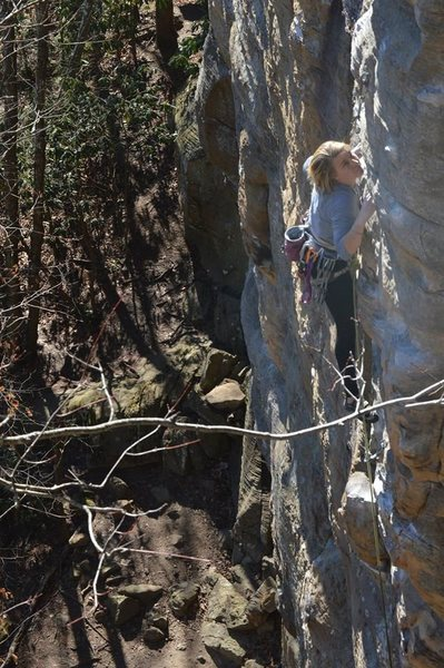 Rock Climbing Photo: Fire and Brimstone 10c Red River Gorge.