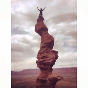 Rock Climbing Photo: #4 bagging the classics - Ancient Art in 30+ mph w...