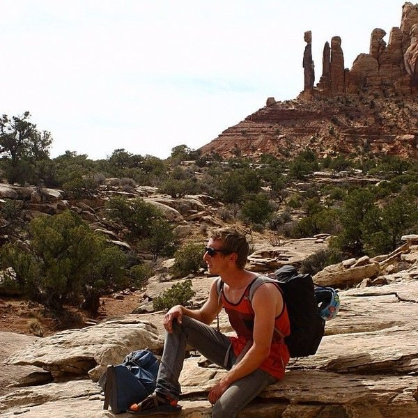 #3 Thin Man Pinnacle w/ Eric. This guy is out there, pretty sweet to feel like you have the desert to yourself.