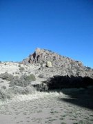 Rock Climbing Photo: Solitary boulder facing east