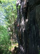 Rock Climbing Photo: Kevin leading Daring to Fly