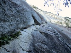 Rock Climbing Photo: Looking up Pitch 1 of Apron Strings.