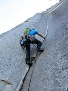 Rock Climbing Photo: John starting up the Split Pillar. Amazing pitch!