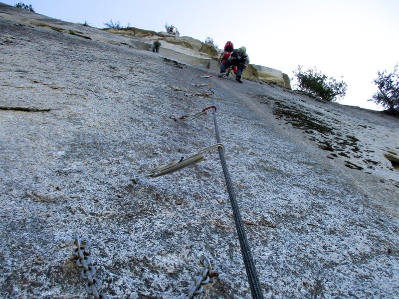 Rock Climbing Photo: The bolt ladder after The Sword.