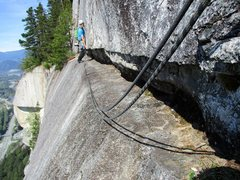 Rock Climbing Photo: Bellygood Ledge, which traverses from the top of t...