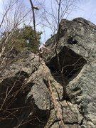 Rock Climbing Photo: Fun climbing with good exposure on the aréte