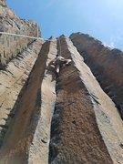 Rock Climbing Photo: Nick doing his best not to climb Air Guitar in cra...