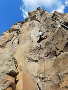 Rock Climbing Photo: stemming to glory