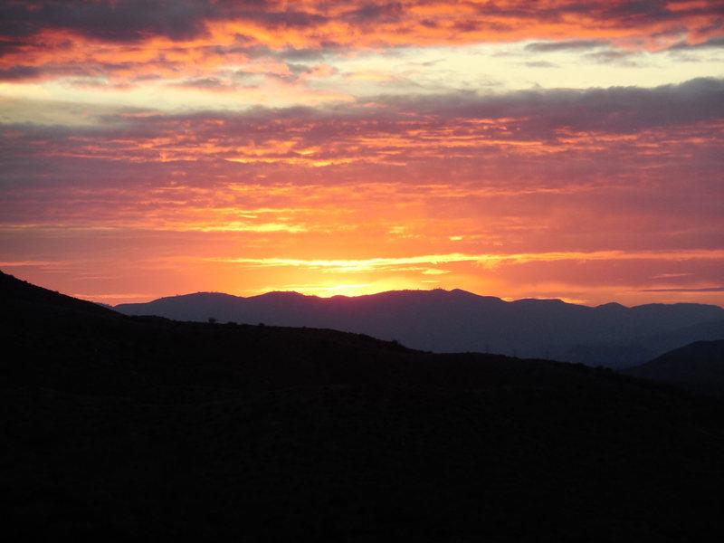 Sunset over Texas Canyon.