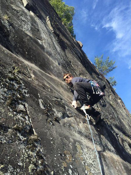 Rock Climbing Photo: Stewart Korte on lead