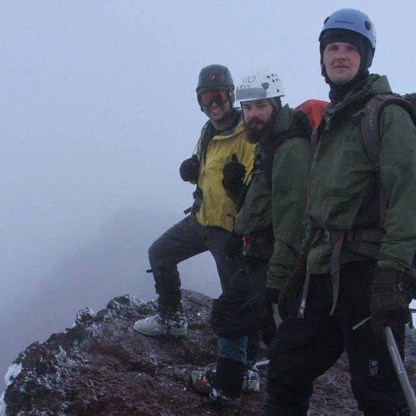 Myself, Ryan Kautz, and Mason Murphy on top of Ball Butte enjoying splitter Oregon weather. Photo Cred Will Saunders